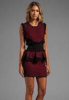 McQ by Alexander McQueen Fringe Tweed Dress