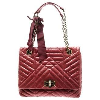 Lanvin Happy Red Leather Handbags