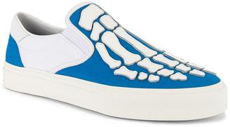 Amiri Skel Toe Slip On in Blue & White & White | FWRD