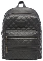 The Honest Company Infant City Quilted Faux Leather Diaper Backpack - Black