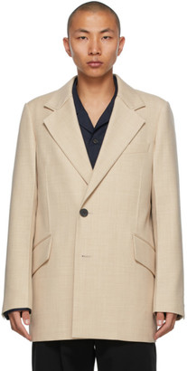 Wooyoungmi Beige Double-Breasted Blazer