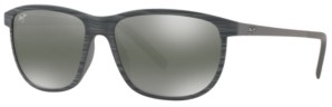 Maui Jim Unisex Dragon's Teeth Polarized Sunglasses, MJ000608