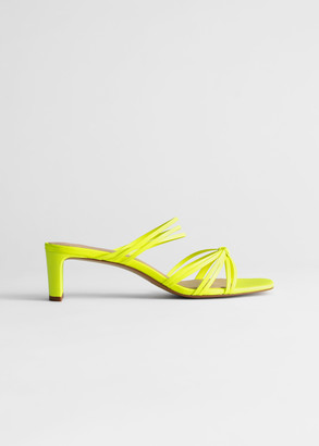 And other stories Strappy Knotted Heeled Leather Sandals