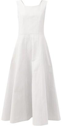 Gioia Bini Anya Cotton-twill Midi Dress - Light Blue