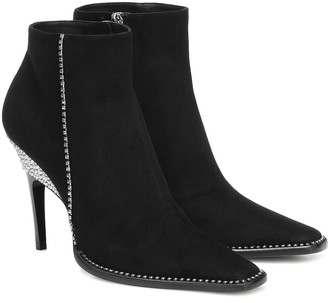 Jimmy Choo Brecken 100 embellished suede ankle boots