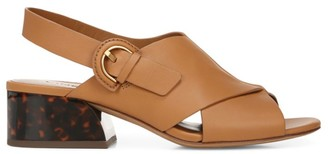 Vince Jetta Leather Slingback Sandals