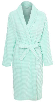 George Mint Ribbed Fleece Dressing Gown