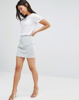 Sugarhill Boutique Geo Print Mini Skirt