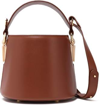 Aevha London Linterna Chain And Resin-trimmed Leather Bucket Bag