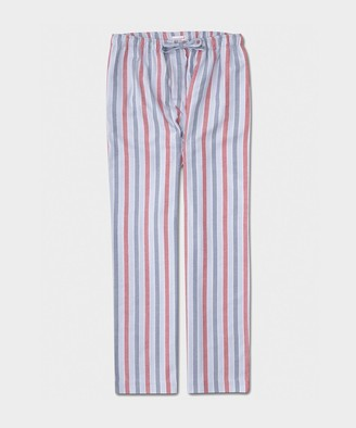 Derek Rose Kelburn II Men's Lounge Pants in Stripe Blue