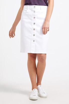 Sportscraft Maryam White Denim Skirt