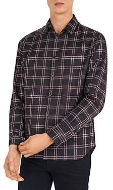 The Kooples Logo Check Slim Fit Button-Down Shirt