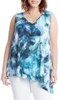 Karen Kane Plus Size Women's Sea Glass Asymmetrical Tank