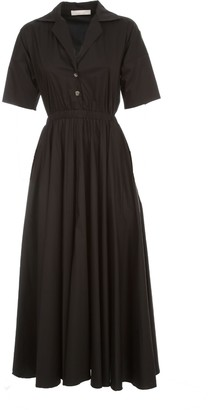 Liviana Conti Long Dress S/s Chemisier W/round Skirt