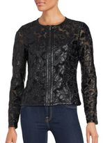 Bagatelle Floral Motif Mesh Jacket