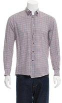 Bottega Veneta Checkered Print Button-Up Shirt