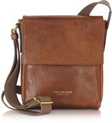 The Bridge Sfoderata Marrone Leather Men's Crossbody Bag
