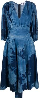 MSGM Tie-Dye Cotton Dress