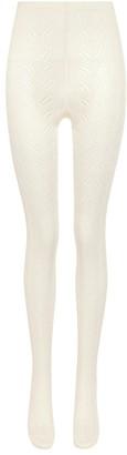 Miu Miu High-rise pointelle-knit tights