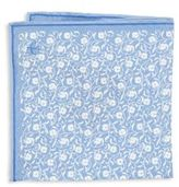Canali Floral Silk Pocket Square