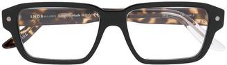 S'nob Snob Quader clip-on lens glasses