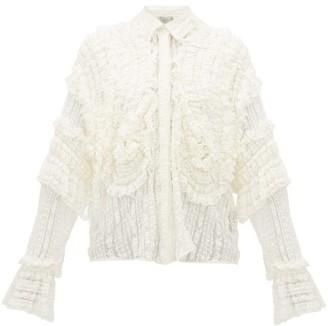 Preen by Thornton Bregazzi Elliana Shirred Lace Shirt - White
