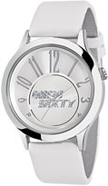 Miss Sixty SG5005 40mm Aluminium Case White Leather Mineral Men's Watch