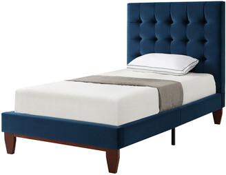 INSPIRED HOME Fabrizio Velvet Platform Bed
