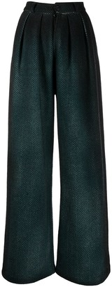 Avant Toi Herringbone Wide-Leg Trousers