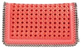 Stella McCartney 'Falabella - Caned' Faux Leather Crossbody Bag - Pink