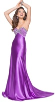 Blush Lingerie Strapless Sequined Long Gown 9584