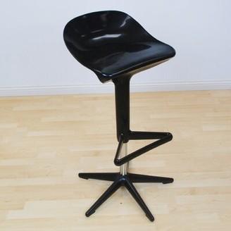 "Wrought Studioâ""¢ Casavant Starfish Adjustable Height Swivel Bar Stool Wrought Studioa Upholstery: Black"