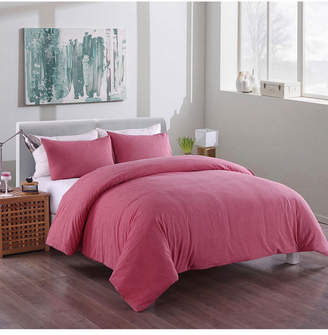 Messy Bed Washed Cotton Duvet Cover and Sham Set, Twin Bedding