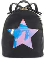 T-Shirt & Jeans Holographic Window Cutout Mini Dome Backpack