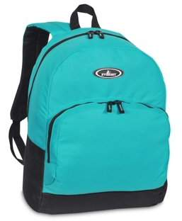 Everest Classic Backpack w/ Front Organizer, Turquoise