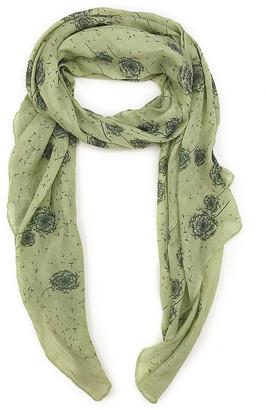 East Cloud Women's Accent Scarves AvocadoGreen - Avocado Green Dandelion Scarf