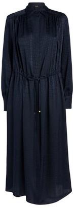 Kiton Silk Maxi Shirt Dress