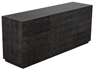 Noir Leon 6 Drawer Combo Dresser