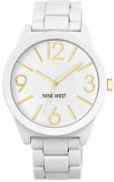 Nine West Ladies Quartz Matte White Bracelet Watch