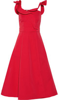 Vika Gazinskaya Wrap-effect Cotton-twill Midi Dress - Red