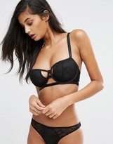 Wolfwhistle Wolf & Whistle Barely There Lace And Mesh Bra