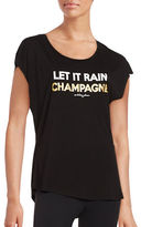 Betsey Johnson Let it Rain Champagne Performance Tee