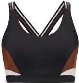 The Upside Lottie Panelled Low-impact Bra - Womens - Black Multi