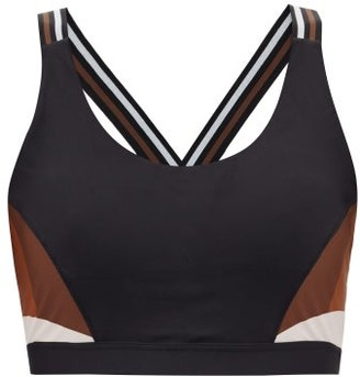 The Upside Lottie Panelled Low-impact Bra - Black Multi