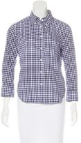 Band Of Outsiders Gingham Button-Up Top