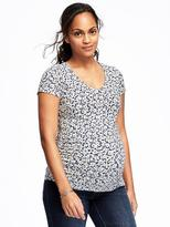 Old Navy Maternity Printed V-Neck Tee