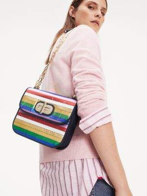 Tommy Hilfiger Turnlock Multicolour Crossover Bag