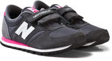 New Balance Dark Grey and Pink 420 Velcro Shoes
