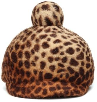 Lola Hats Toy Soldier leopard-print felt hat