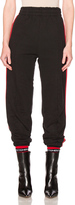 Vetements Biker Sweatpants with Red Stripes